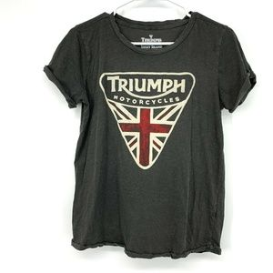 Lucky Brand Triumph Motorcycles Graphic T Shirt